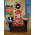 Head Girl & Head Boy lead the poppy fundraising