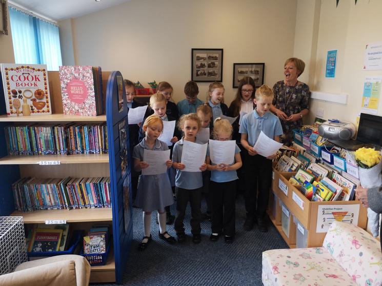 Choir Led by Mrs. Brennan April 2019