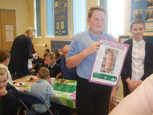 Head Boy & Head Girl raising money for MacMillan