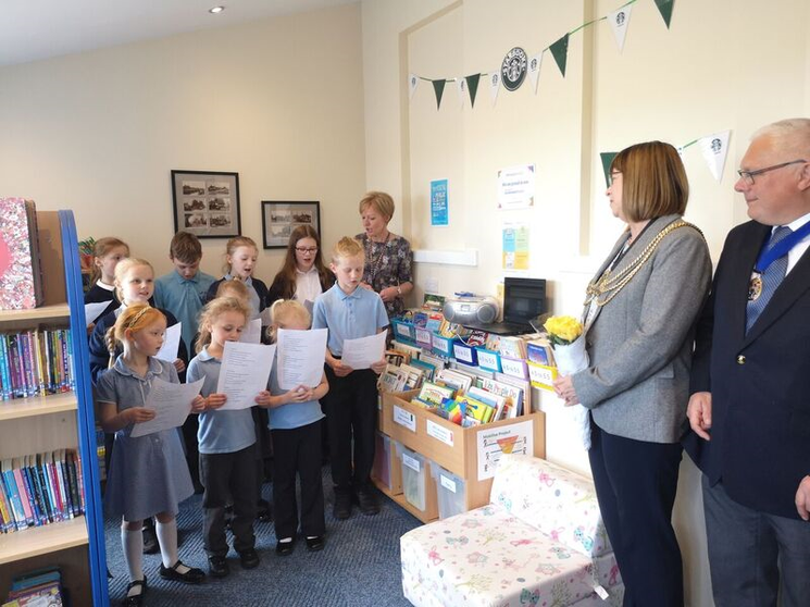 Choir performing in New Library April 2019