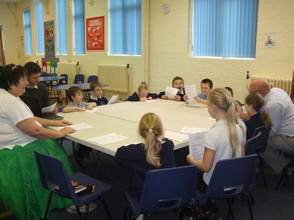 School Council Meeting attended by School Governor