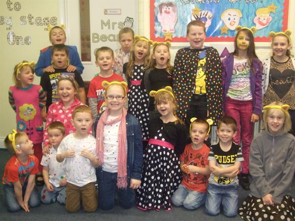 Children of New Leake supporting Children in Need