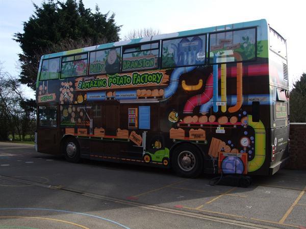Branston Potato Bus Visits New Leake 29.2.16