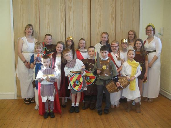 The Romans - Pupils & Staff Dress up for Roman Day