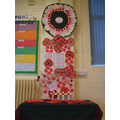 All the pupils have made poppies to remember