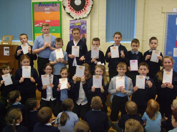Bikeability Certificates awarded March 2018