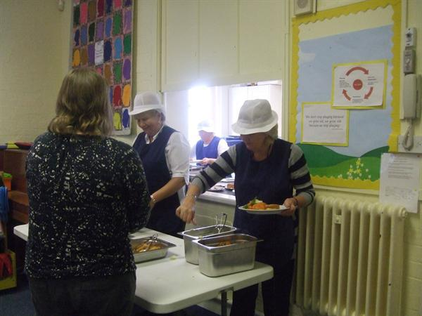 Midday Supervisors serve Roast Dinner
