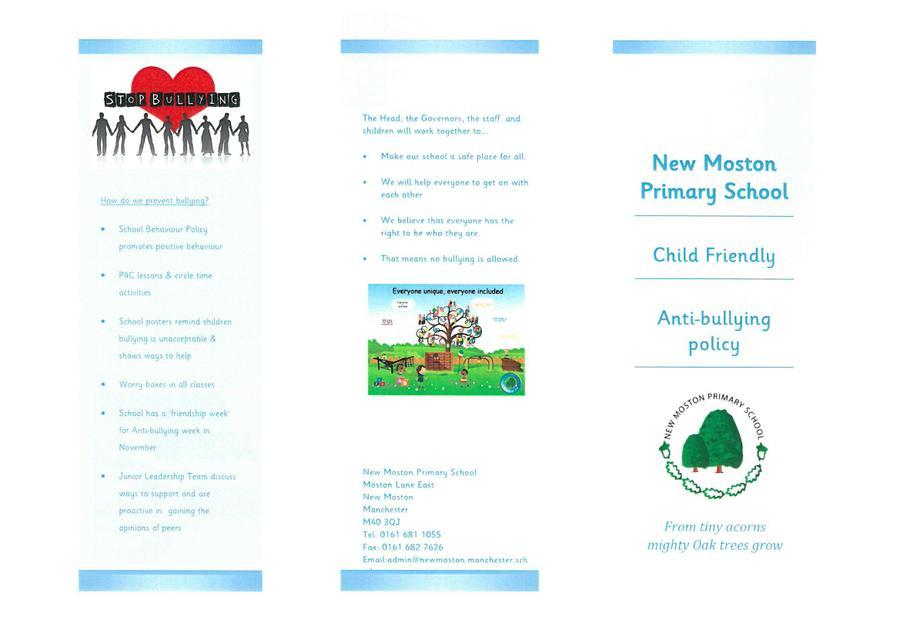 Child Friendly Anti Bullying Policy