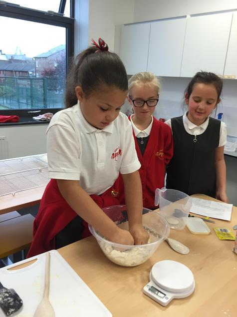 In D.T we designed and made our own bread.
