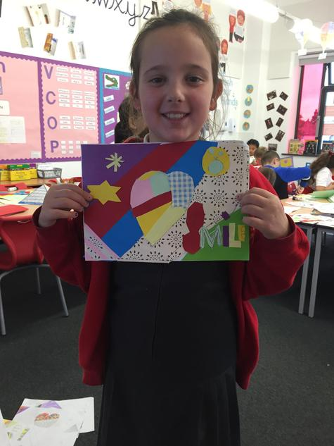 In Arts week we made a Britto style collage.