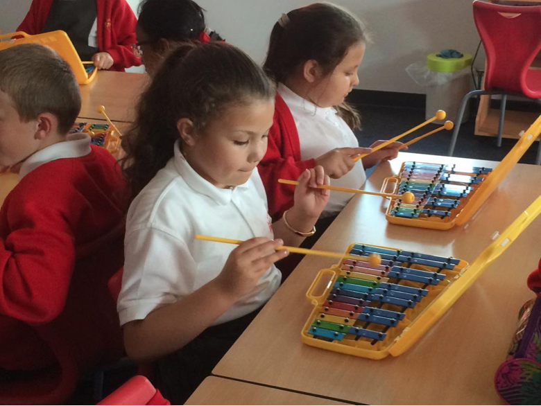 In Music we are working with glockenspiels.