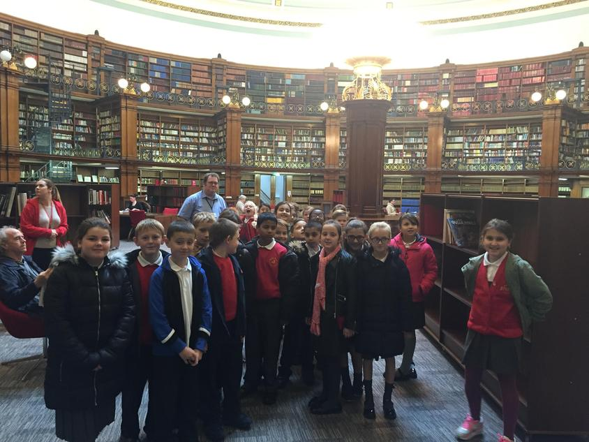 The children visited Liverpool Central library.