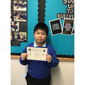 Well done Lucas, for super work in Science! :)