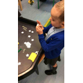 Maths area we made and counted two-numbers to 100.
