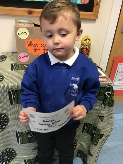 Well done George for being a super friend to others.