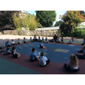Outdoor PE and ring games.