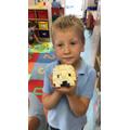 Samuel and his Lego igloo.