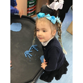 Samira shows us her creative skills by making herself and her mum using playdough