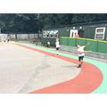 Practising batting skills for roundd