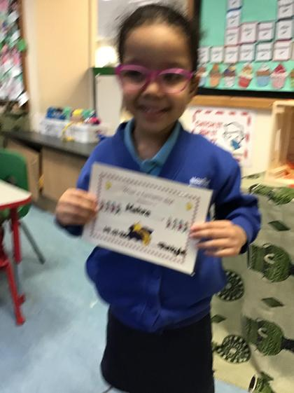 Well done Mahra you have had a super week.