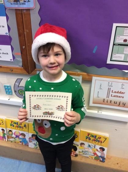 Lovely learning award for constructing with a purpose.