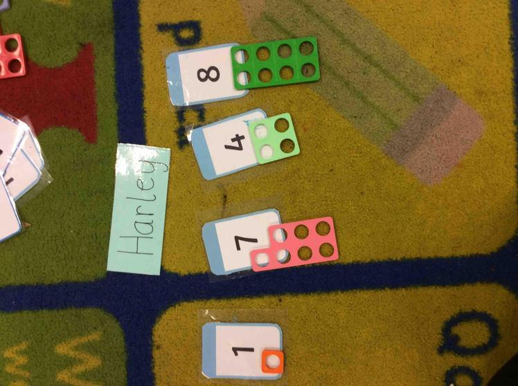 Well done Harley you could match the numicon to the numeral.