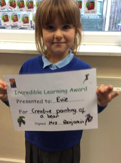 Well done  Evie for the  fantastic painting of your bear.