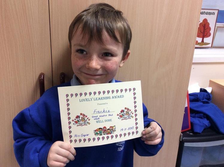 Frankie Edwards - A Lovely Learning Award        Learning