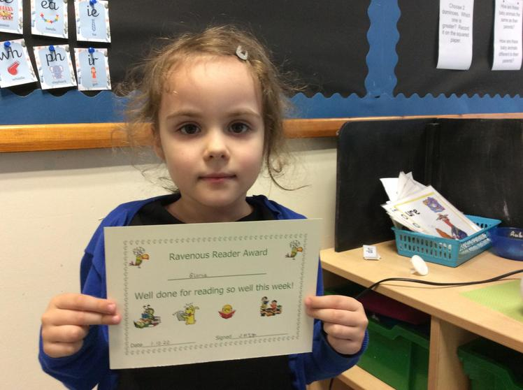 Week 4 - Gloria for great sight word reading.