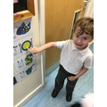 The children enjoy sounding out the letters