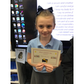 Well done Morgan! You had an amazin week! Keep this great attitude towards learning!