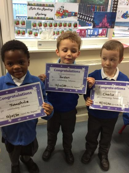 Well done Josephine, Jordan and Charlie for reaching outstanding this week.