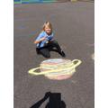 Oliver chalked Saturn