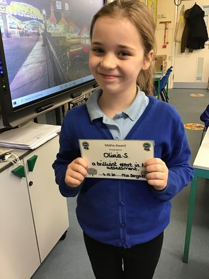 Olivia persevered with her Maths this week.