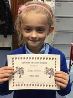 Week 5  8.10,20 Kinga earnt the Awesome Learning Award