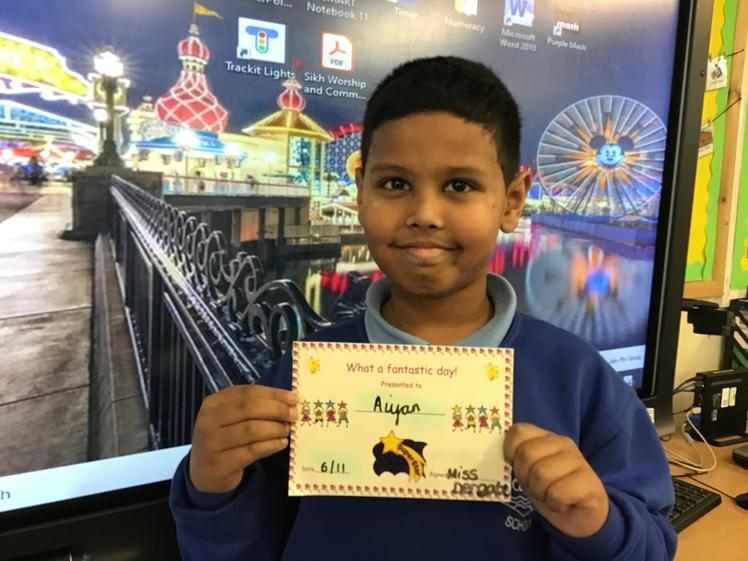 Aiyan is always on task and his work this week has been excellent.