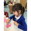 Aliah is able to recognise amounts without having to count