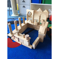 Tyler built his castle out of wooden blocks