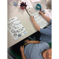 Completing their subtraction work - 2 digit - 2 digit.
