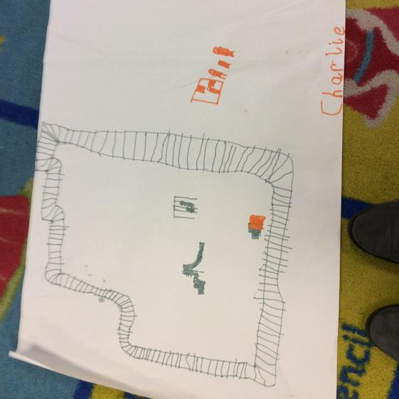 Well done Charlie that is a detailed  picture of  a train station.