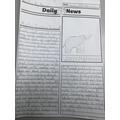Newspaper article, reporting