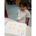 Drawing the ducks from the story The Ugly Duckling