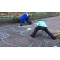 Week 3- Mark making with chalk