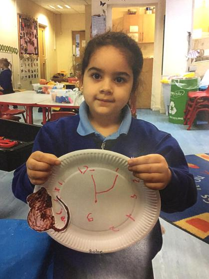 Well done Bobe for writing your numbers on your clock.