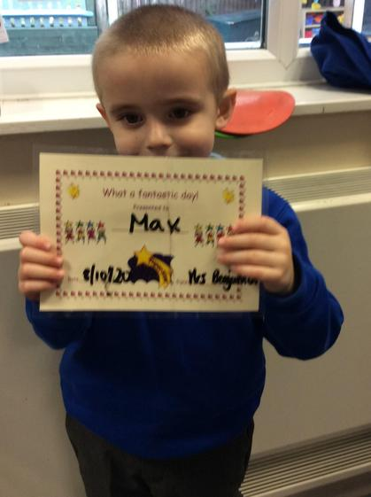 Well done Max for always showing your love  for  learning.