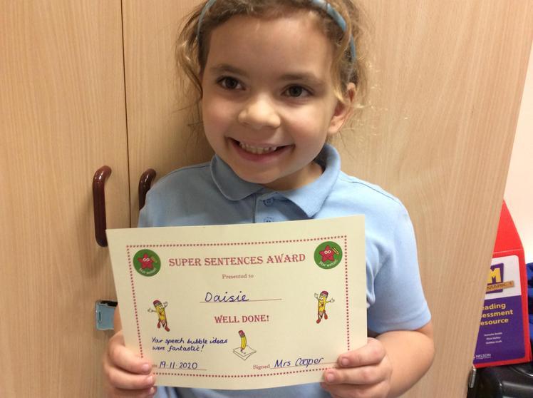 Daisie De Carle - A Super Sentences Award