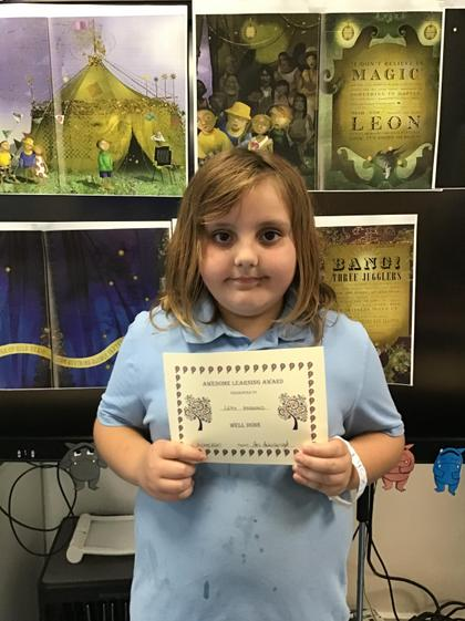 Leah, you were working so hard on your handwriting and in Maths. You are a Superstar:)
