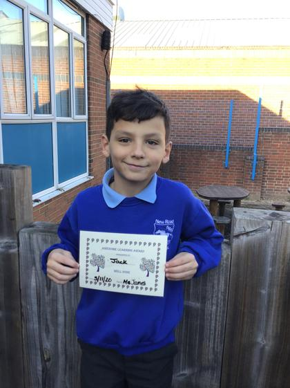 Jack has had a week of super learning.
