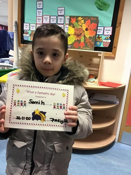 Well done Semih for having a great week.