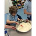 Connor put lots of effort into making his salt dough